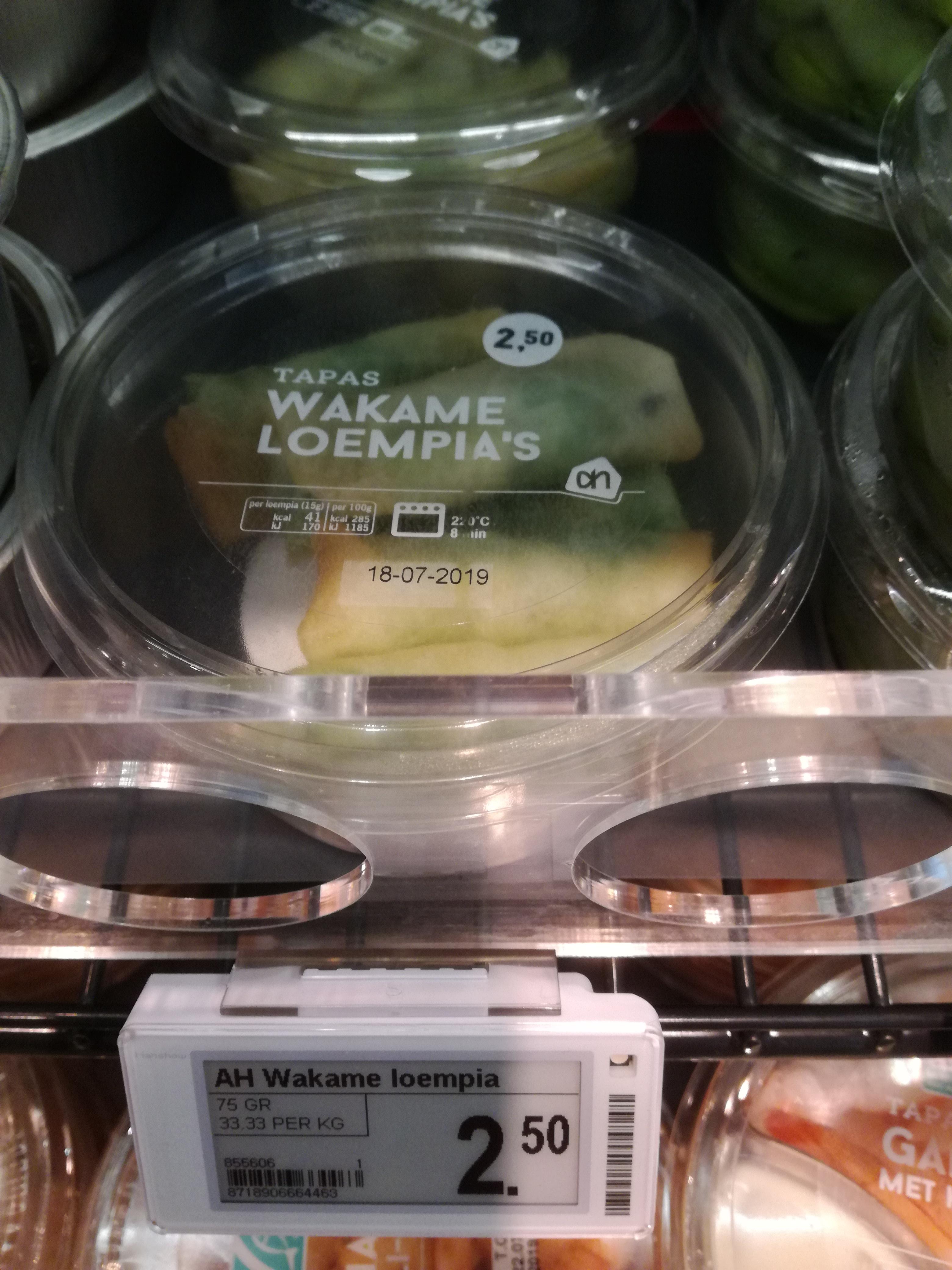Wakame loempia's met zeewier salade van AH